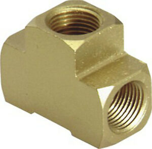 "1/8"" BRASS TEE, Female Pipe 1/8"" -27 x 1/8in. - 27 Kent 5325"