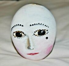 Original Stone Art by Leean Moon Face Woman * Rock Art Painting *