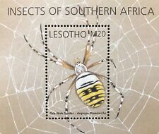 LESOTHO INSECTS STAMPS S/S 2002 MNH ORB WEB WEAVING SPIDER WILDLIFE NATURE BUG