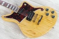 D'Angelico Deluxe Bedford Solidbody Offset Guitar, Pau Ferro, Hardtail, Natural