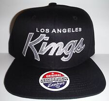 Los Angeles LA Kings Authentic Black  Script Snapback NWT Hat Zephyr Cap