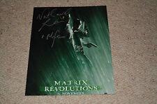 Nathaniel LEES SIGNED AUTOGRAPH 20x25 cm In Person Matrix Revolutions, LOTR