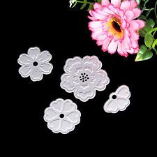 4X Metal Flowers Cutting Dies Stencils For DIY Scrapbooking Paper Card Decor