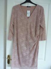 Quiz Dusty Pink Lace Fixed Wrap Shift Dress. UK 22 EUR 50 US 18. STUNNING