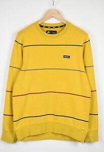 NIKE SB EVERETT 934095-752 Men's MEDIUM Yellow Striped Crew Jumper 42855-GS