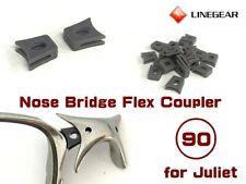 LINEGEAR Nose Bridge Flex Coupler Dark Gray for Oakley Juliet 2 pcs [NBFC90-DG]