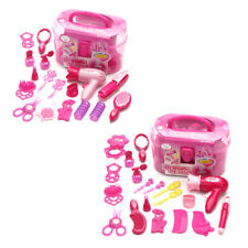 Kid Pretend Play Make Up Set Toys Hairdressing Simulation Cosmetic Dressing Kit