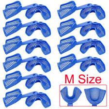 10 Sets Plastic Steel Dental Impression Trays Denture Model Materials M Size