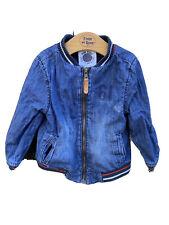 boys denim jacket 2-3 years Vintage Bomber Jacket Style Mothercare