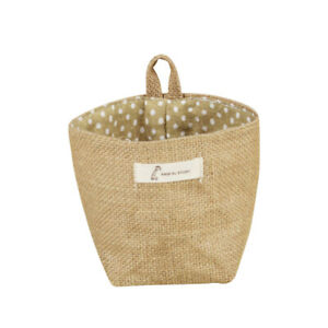 1Pc Storage Sack Cotton Mini Little Hanging Housing Basket Flower Pot