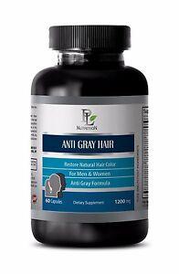 Horsetail Supplement  ANTI GRAY HAIR CARE Restoring natural Hair color 1B