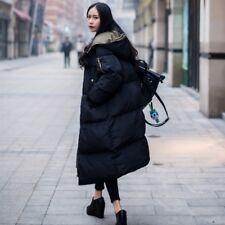 Lady Long Casual Puffer Long Coat Parka Jacket Hooded Oversized Winter Outerwear