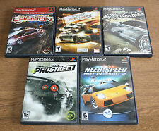 PS2 5 GAME RACING LOT 4 DIFFERENT NEED FOR SPEED FAST & FURIOUS FREE SHIPPING