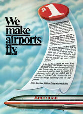 American Airlines print ad 1981 art - We Make Airports Fly