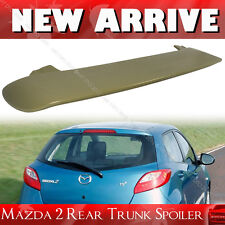 Unpainted Mazda 2 3rd Hatchback 5DR Rear Window Roof Spoiler K-Style 08-14