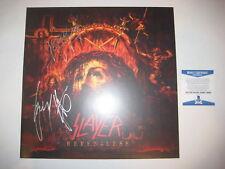 KERRY KING & GARY HOLT (Slayer) Signed SHOW NO MERCY Album w/ Beckett COA