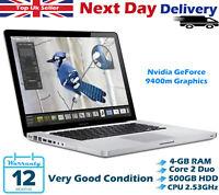 "Apple MacBook Pro 13.3"" Intel Core 2 Duo 2.53GHz 4GB RAM 500GB HDD El Capitan"