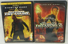 National Treasure 1 & 2 Book of Secrets DVD Lot Widescreen