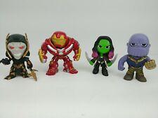 Funko Mystery Minis Bobble Heads Corvus Glaive Thanos Gamora Hulkbuster Lot of 4