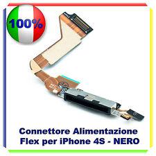 FLAT CONNETTORE DI RICARICA PER IPHONE 4S NERO MICROFONO DOCK CONNETTORE