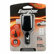 Energizer USB Wall and Car Charger with Cable Storage for USB Powered Devices