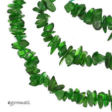 """16"""" Emerald Green Russian Diopside Chip / Nugget Beads ap.5-8mm #85490"""