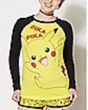 Pikachu Pokemon Pajama Set womens girls long sleeve New w tags medium 29$