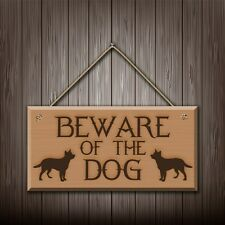 Beware Of The Dog - Graviert holz wandschild/sign