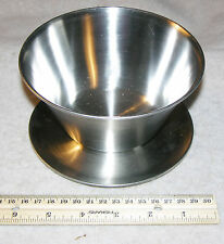Stainless Steel 18/8 Leonard Gravy Bowl with dish base, Made in Korea