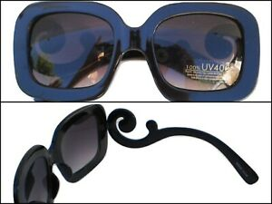 Women's Fashion Sunglasses Oversized Black Celebrity Style UV400 Protection NEW