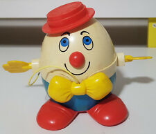 FISHER PRICE 60S 70S TOY PULL STRING RED HAT HUMPTY DUMPTY ABOUT 11CM TALL!