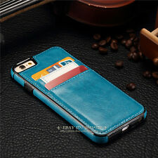 Luxury Leather Wallet Card Holder Back Case Cover For Apple iPhone X 6s 7 8 Plus