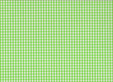 4mm Apple Green Gingham Polycotton Fabric (115cm wide)
