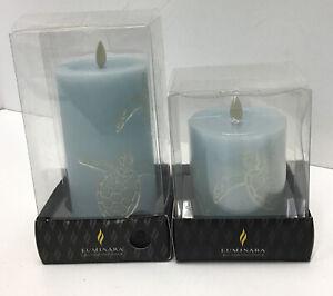 "Luminara Real Flame-effect Turtle Unscented Pillar Candle Set -Wax 3"" x 4.5-6.5"""
