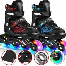 Kinder Inliner Skates verstellbar Größe 31 - 42 Inline Rollschuhe blinkende DHL
