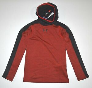 Under Armour Boys Long Sleeve Fitted Hooded Base Layer Shirt Medium $45