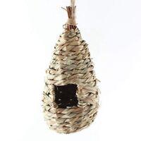 Gazon naturel de tisse suspendus Birdhouse nid Maison d'oiseaux de paille A8H8
