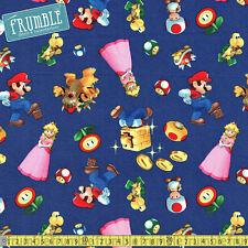 Springs Creative Fabric Super Mario 2 Character Toss Multi PER METRE Nintendo Re