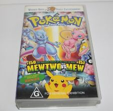 Pokemon The First Movie Vhs Video 1998 Mewtwo Vs Mew