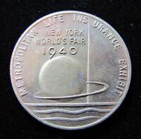 1940 NYWF METROPOLITAN LIFE INSURANCE Company Medallion NEW YORK WORLD'S FAIR