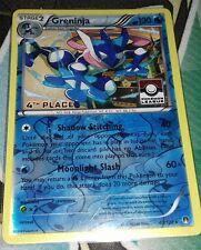 Greninja BREAKPoint 40 Reverse Holo 4th Place Play League Mint Pokemon Card