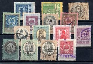 Old  revenue stamps of Hungary used   collection # 1