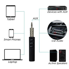 Wireless Bluetooth Car Kit Hands free 3.5mm Jack AUX Audio Receiver Adapter