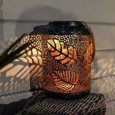 Solar Power Outdoor Hanging LED Silhouette Light Up Lantern | Garden Decor