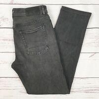 Timberland Mens Black Grey Straight Leg Jeans 32W 32L