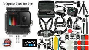 For GoPro Hero 9 Black Waterproof Case Underwater Diving Housing+Accessories KIT