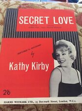 More details for secret love - kathy kirby - sheet music, different picture to usual