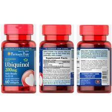 Puritan's Pride Ubiquinol Co Q-10 Rapid Release Supports Healthy Heart 200mg x60