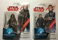 """Lot of 2: Luke Skywalker Jedi Exile & General Leia  3.75"""" Star Wars - Brand New"""