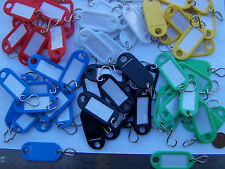 Lot of 54  (9x6 colors)   Key ID Labels Tags with Key Ring Hook